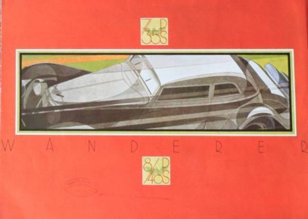 Wanderer 7/35 PS Modellprogramm 1933 Reuters Zeichnungen Automobilprospekt