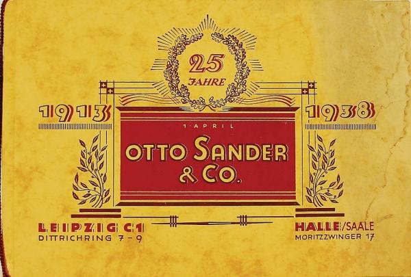 Otto Sander Automobilzubehör 1938 Jubiläumskatalog