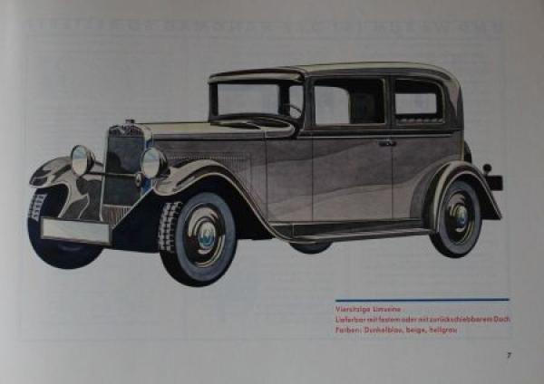 Hanomag 23 PS Modellprogramm 1931 Automobilprospekt 1
