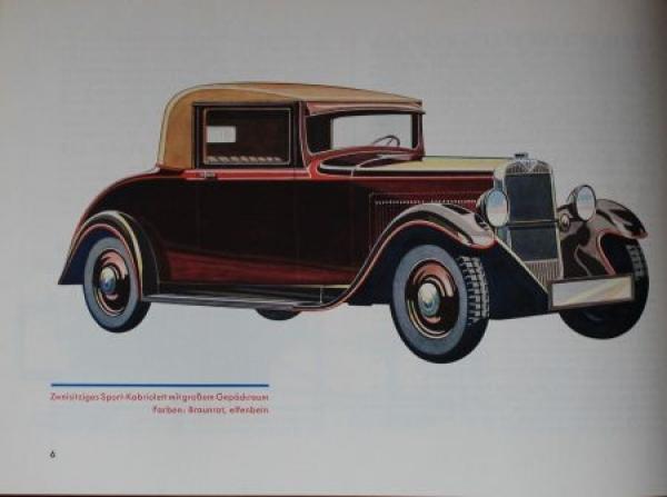 Hanomag 23 PS Modellprogramm 1931 Automobilprospekt 2