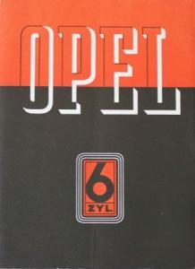 Opel 6 Zylinder Modellprogramm 1936 Automobilprospekt