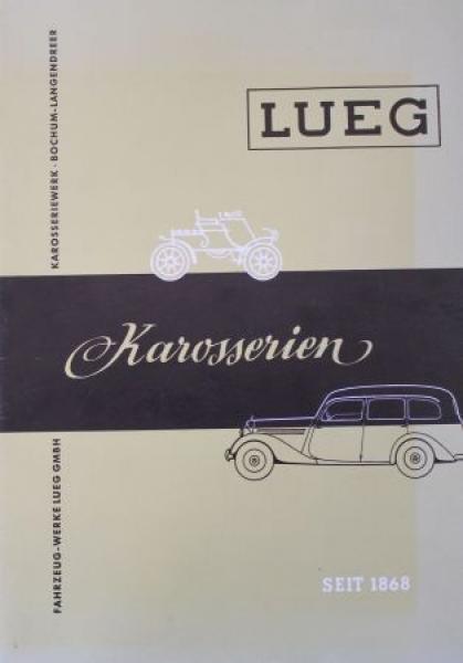 Mercedes-Benz Lueg Karosserien 1952 Automobilprospekt-Mappe