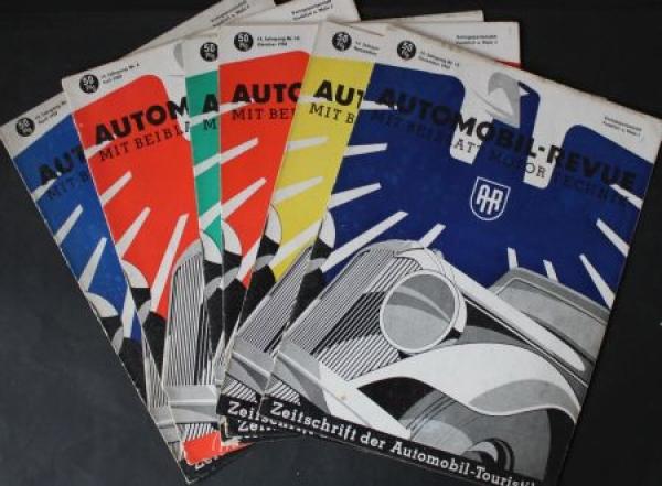 """""""Automobil Revue"""" Automobil-Magazin 6 Ausgaben 1940"""