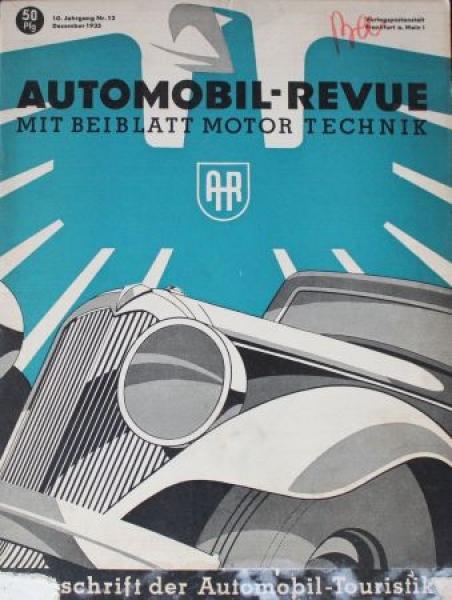 """""""Automobil Revue"""" Automobil-Magazin 1935"""