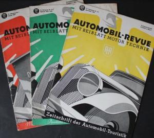 """""""Automobil Revue"""" Automobil-Magazin 3 Ausgaben 1940"""