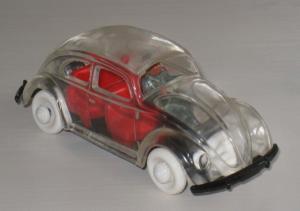 Wiking Volkswagen Brezel-Käfer 1952 Glasmodell mit Fahrer