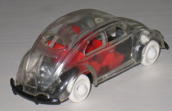 Wiking Volkswagen Brezel-Käfer 1952 Glasmodell mit Fahrer 1