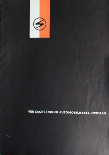 VEB Sachsenring Automobilwerke 1959 Automobilprospekt