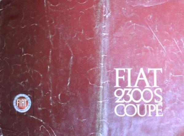 Fiat 2300 S Coupe 1965 Automobilprospekt