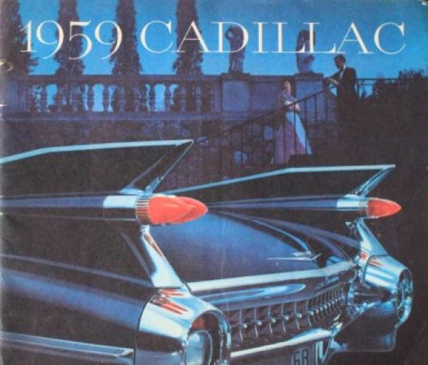 Cadillac Modellprogramm 1959 Automobilprospekt