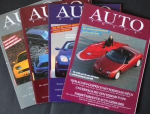 """""""Auto Focus"""" Automobil-Magazin 1994 vier Ausgaben"""