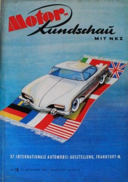 """Motor Rundschau mit NKZ"" Motor-Magazin zur IAA 1955"