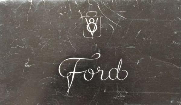 Ford V8 Modellprogramm 1936 Automobilprospekt