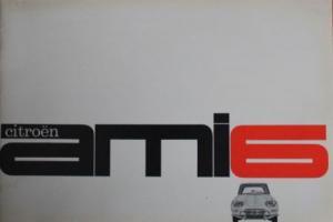 Citroen Ami 6 Modellprogramm 1963 Automobilprospekt