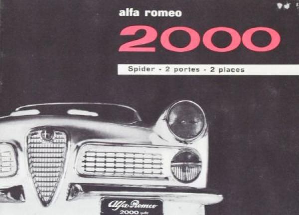 Alfa Romeo 2000 Spider 1962 Automobilprospekt