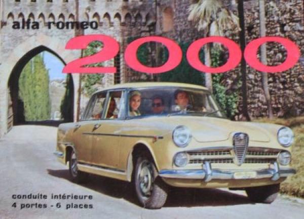 Alfa Romeo 2000 Limousine 1962 Automobilprospekt