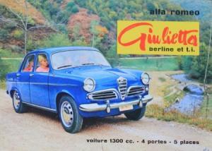 Alfa Romeo Giulietta Berline t.i. 1962 Automobilprospekt