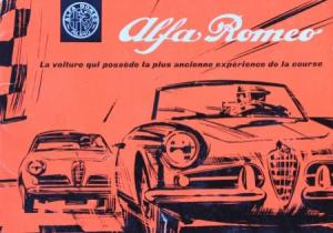 "Alfa Romeo ""L'histoire d' Alfa Romeo"" 1962 Automobilprospekt"