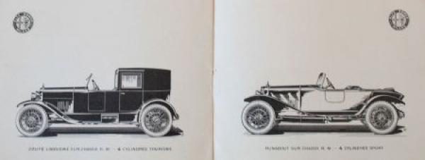 "Alfa Romeo Modellprogramm ""Grand Prix D'Europe 1924"" 1925 Automobilprospekt 2"