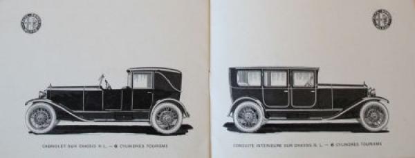 "Alfa Romeo Modellprogramm ""Grand Prix D'Europe 1924"" 1925 Automobilprospekt 3"