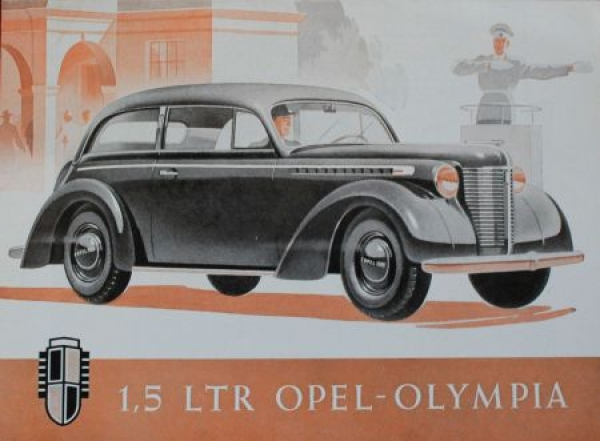 Opel Olympia 1,5 Liter 1938 Automobilprospekt
