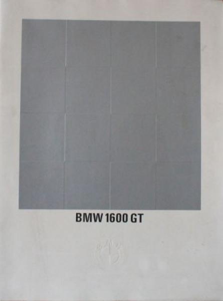 BMW 1600 GT 1967 Automobilprospekt