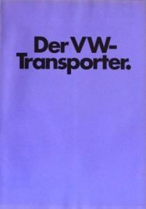 """Volkswagen T2 """"Der VW-Transporter"""" 1972 Automobilprospekt"""