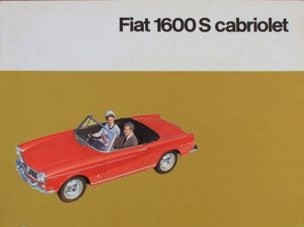 Fiat 1600 S Cabriolet 1963 Automobilprospekt