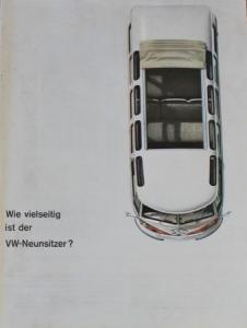 """Volkswagen Bus T1 """"Wie vielseitig ist der VW-Neunsitzer?"""" 1965 Automobilprospekt"""
