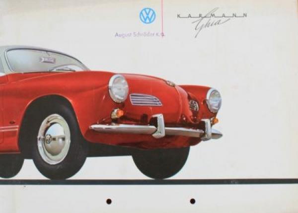Volkswagen Karmann Ghia 1959 Automobilprospekt