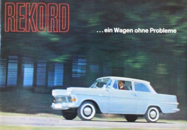 """Opel Rekord """"Ein Wagen ohne Probleme"""" 1961 Automobilprospekt"""