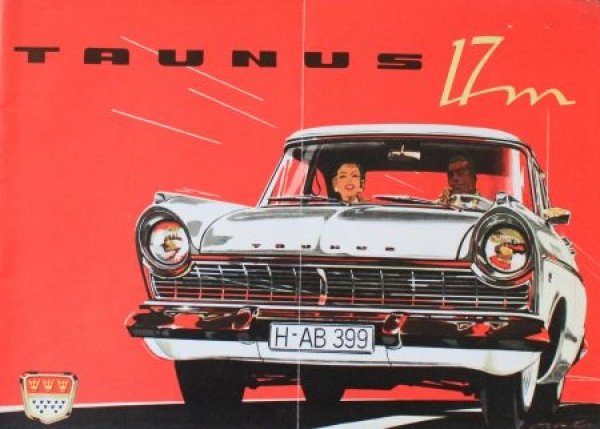 Ford Taunus 17M Modellprogramm 1958 Automobilprospekt