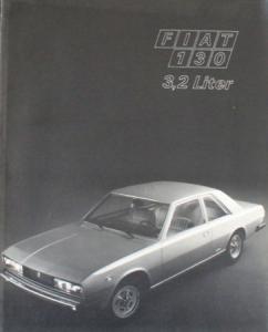 Fiat 130 3,2 Liter Modellprogramm 1972 Automobilprospekt