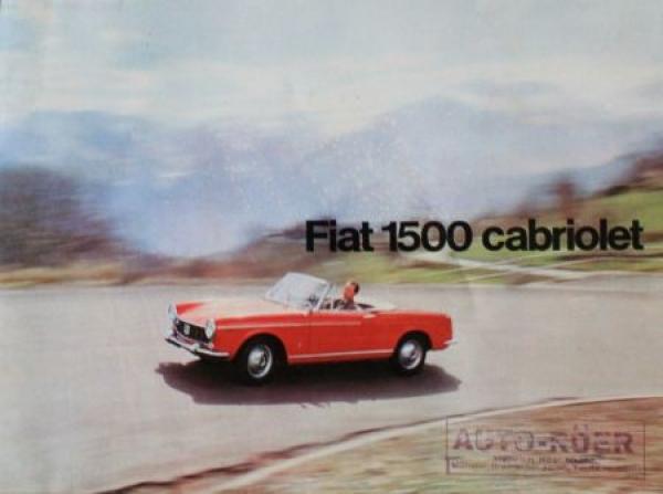 Fiat 1500 Cabriolet 1963 Automobilprospekt