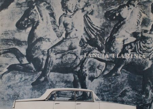 Lancia Flamina Modellprogramm 1962 Automobilprospekt