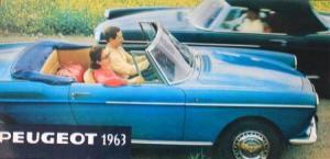 Peugeot Modellprogramm 1963 Automobilprospekt