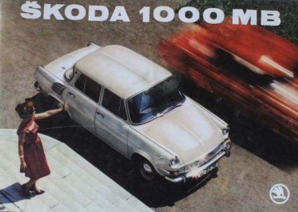 Skoda 1000 MB Modellprogramm 1965 Automoilprospekt