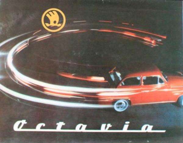 Skoda Octavia Modellprogramm 1959 Automobilprospekt