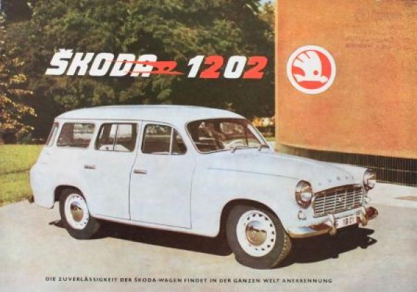 Skoda 1202 Modellprogamm 1960 Automobilprospekt