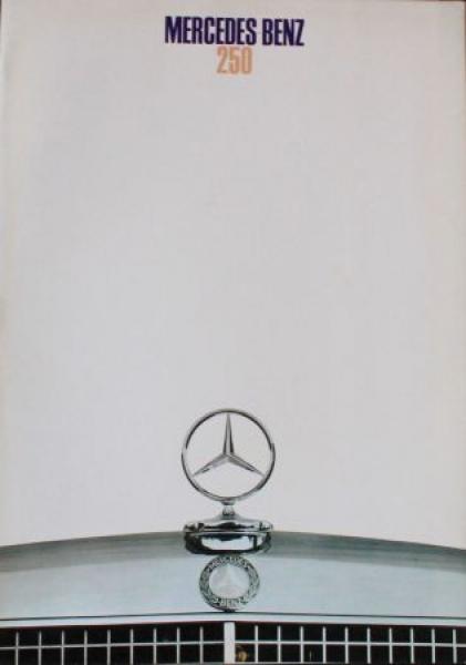 Mercedes-Benz 250 Modellprogramm 1968 Automobilprospekt