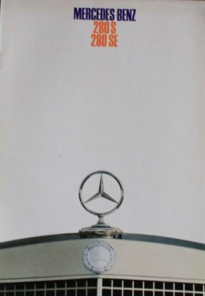Mercedes-Benz 280 S-SE 1968 Automobilprospekt