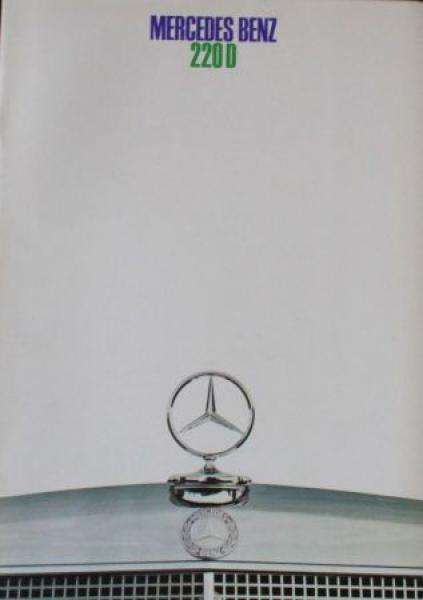 Mercedes-Benz 220 D Modellprogramm 1968 Automobilprospekt