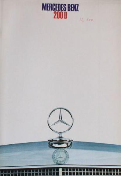 Mercedes-Benz 200 D Modellprogramm 1968 AutomobilprospektMercedes-Benz 200 D Modellprogramm 1968 Automobilprospekt