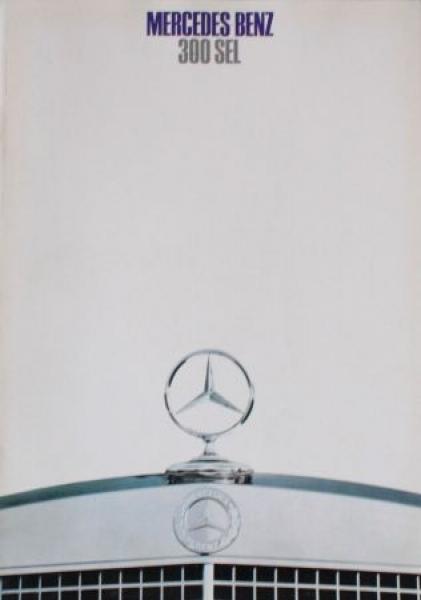 Mercedes-Benz 300 SL Modellprogramm 1968 Automobilprospekt