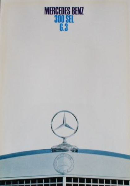 Mercedes-Benz 300 SEL 6.3 Modellprogramm 1968 Automobilprospek