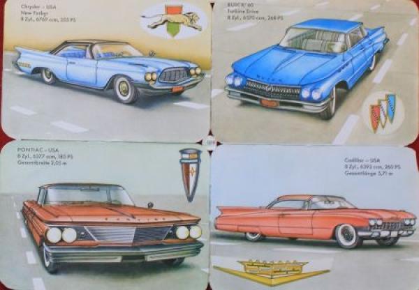 Cadillac - Chrysler - Buick - Pontiac 1959 Poesieoblaten