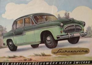 Sachsenring Horch P 240 Modellprogramm 1956 Automobilprospekt