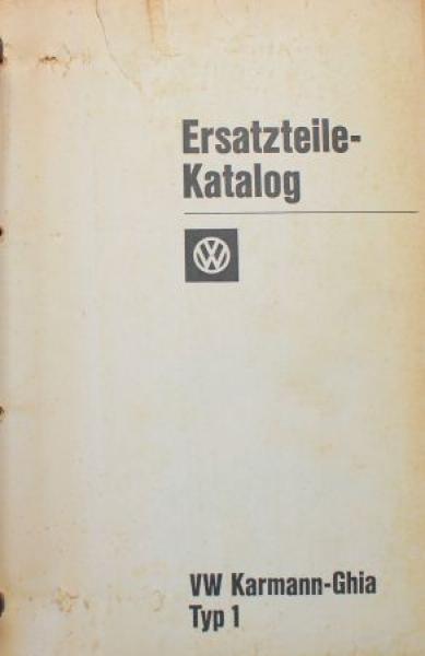 Volkswagen Karmann Ghia 1960-1965 Ersatzteilkatalog