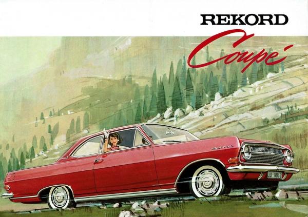 Opel Rekord Coupe 1963 Automobilprospekt