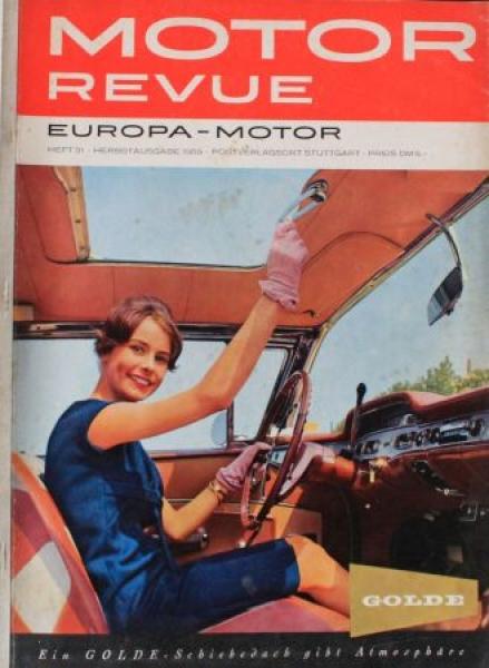 """""""Motor Revue"""" Motor-Zeitschrift 1959"""